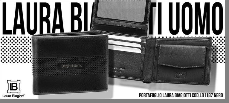 569ba65948 Laura Biagiotti Portafogli Uomo in vera pelle Laura Biagiotti portafogli ...